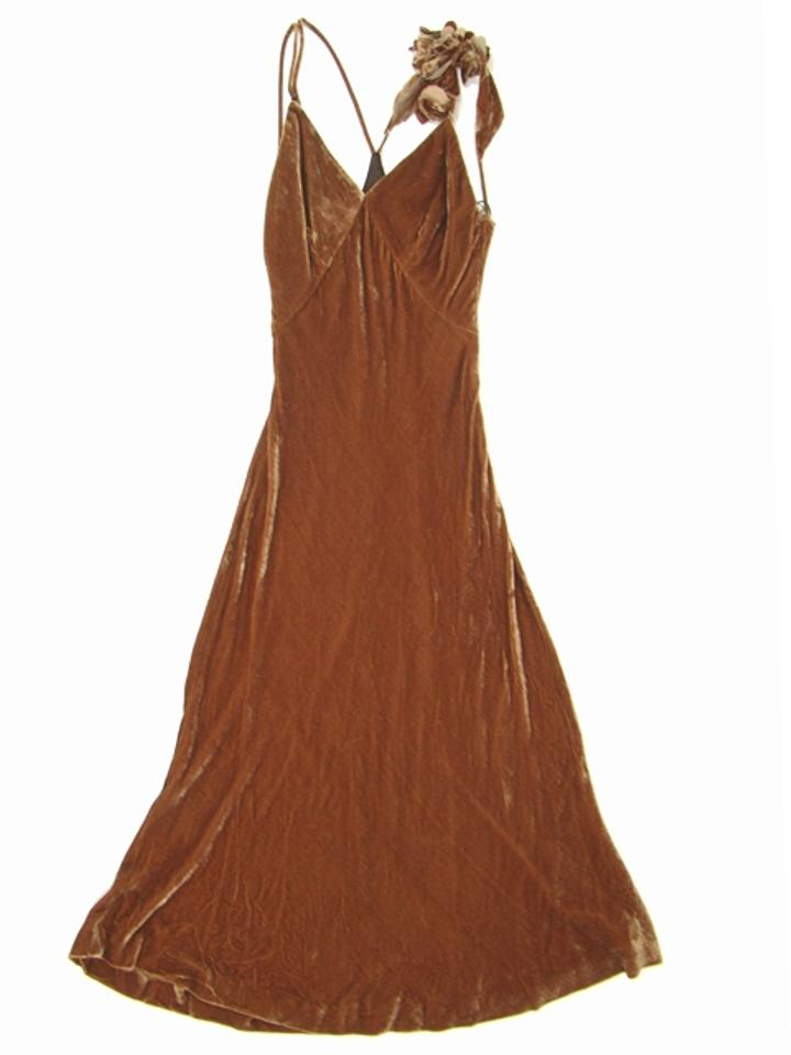 14425cdeaec0 Jean-Paul Gaultier Velvet Silk Bodycon Flowy Evening V-neck Applique  Strappy Dress Image. 12345