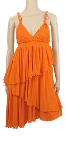 Jean-Paul Gaultier short dress Orange Tiered Strappy Knit A-line Mermaid Summer Spring on Tradesy