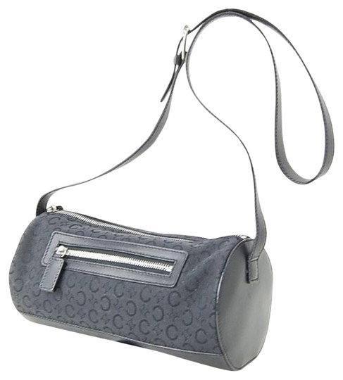 Preload https://item1.tradesy.com/images/celine-vintage-charcoal-greyblack-canvas-and-leather-cross-body-bag-979945-0-0.jpg?width=440&height=440