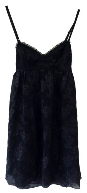 Preload https://img-static.tradesy.com/item/979972/black-and-metallic-party-above-knee-cocktail-dress-size-2-xs-0-0-650-650.jpg