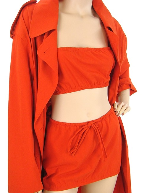 Jean-Paul Gaultier Trench Wool Two-tone Belted Mini Evening Party Paris Dress