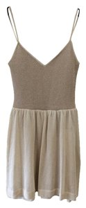 Iisli short dress Gold and champagne Knit on Tradesy