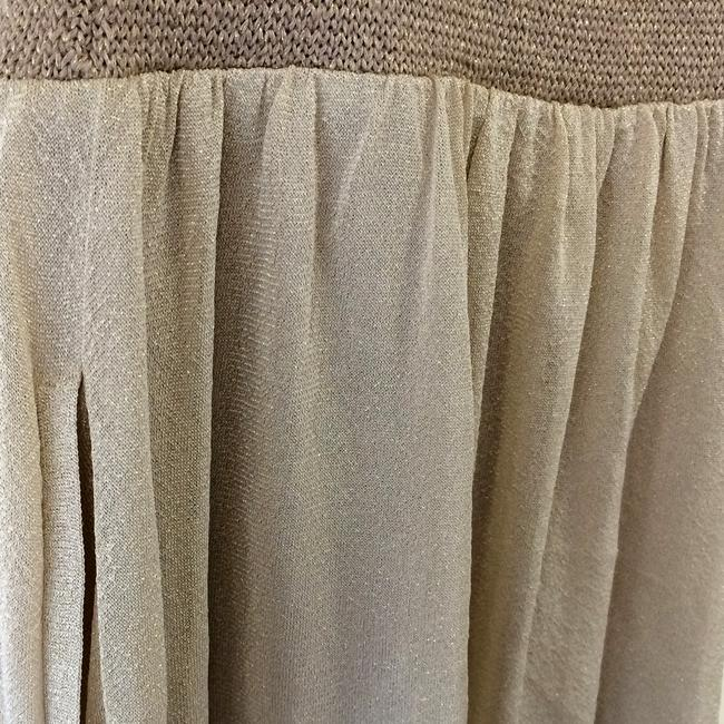 Iisli short dress Gold and champagne Knit Sparkles Glitter Shimmer Comfy Premium Luxury Designer Summer Fun Chic on Tradesy