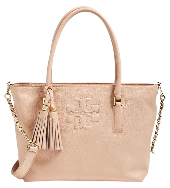 Item - Bag Bucket Thea Small Convertible Black Pink Leather Tote