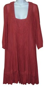 JP & Mattie short dress Brick Red Bohemian Cotton Spin on Tradesy