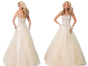 Tony Bowls Ball Gown Beaded Prom Dress
