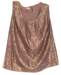 Chico's Top Metalic gold