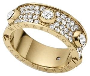 Michael Kors Nwt Michael Kors Astor Gold Tone And Pave Stones Ring Size 7