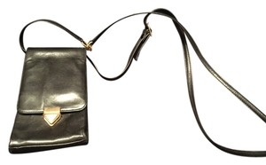 Perlina Leather Gold Clasp Gold Buckle Gold Detailing On Strap Cross Body Bag