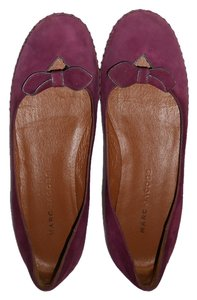 Marc Jacobs Suede Bow Purple Flats