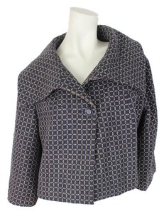 Liz Claiborne Dark Brown & Blue Jacket