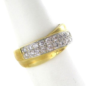 Other 18K KARAT YELLOW GOLD RING 26 DIAMOND SZ 6.5 WEDDING BAND ENGAGEMENT 4.1 GRAMS