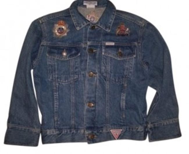 Preload https://img-static.tradesy.com/item/98016/guess-by-marciano-blue-vintage-80-s-embroidered-denim-jacket-size-8-m-0-0-650-650.jpg
