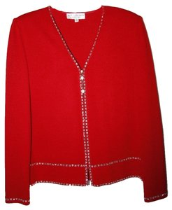 St. John St John Evening Red Skirt and matching top/jacket with gorgeous crystal enhancements. Perfect for the Holidays!!