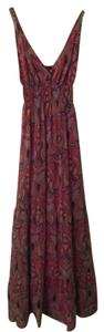 Mauve pink paisley print design Maxi Dress by Yes or No