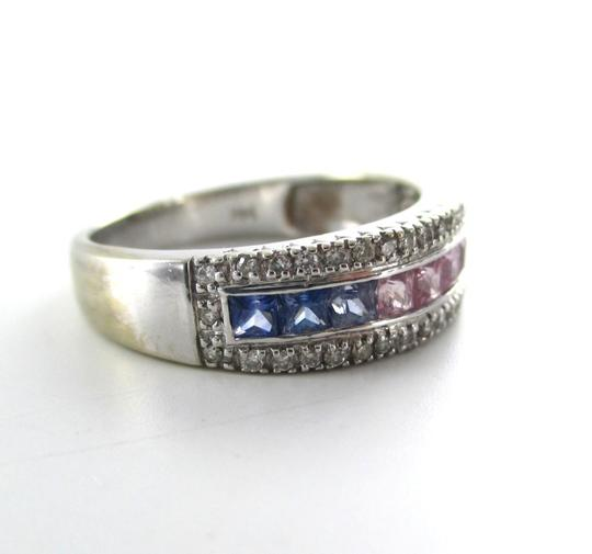 Other 14K WHITE GOLD 40 DIAMOND RING PRECIOUS STONES BAND COCKTAIL ENGAGEMENT SZ 9.5