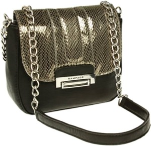 Rampage Chain Edgy Fashion Metallic Shoulder Bag