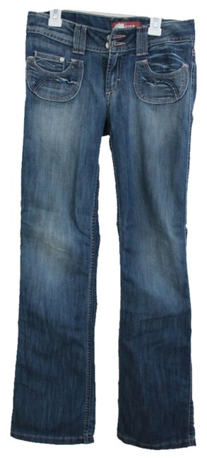 H&M Detail Boot Cut Jeans-Medium Wash