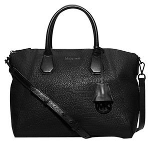 Michael Kors Leather Tote Satchel in Black