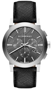 Burberry Burberry Watch Swiss Chronograph Beat Check Fabric Strap 42mm BU9359