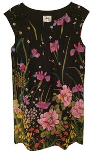 MILLY short dress Black Floral Shift on Tradesy
