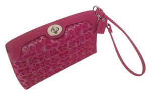 Coach Wristlet in Raspberry