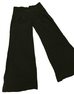 Stella McCartney 100% Silk Wide Leg Pants Black