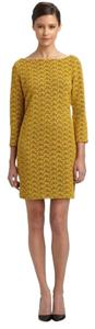 Diane von Furstenberg short dress Yellow Feminine Boatneck Lace V Back Dvf on Tradesy