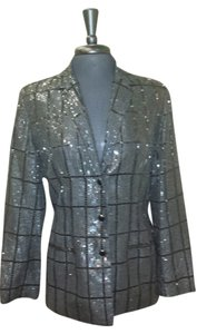 Chetta B. by Sherrie Bloom and Peter Noviello Vintage Sequined Evening Wear Black Blazer