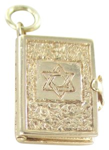 Other 14K YELLOW GOLD PENDANT STAR OF DAVID BIBLE MENORAH CHARM FINE JEWELRY SMALL