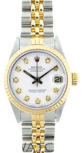 Rolex Automatic Ladies 26mm Stainless Steel and Gold Rolex Datejust