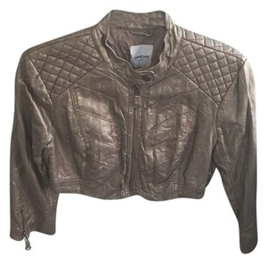 bebe Gold Leather Jacket