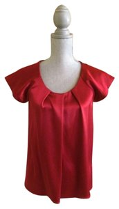 Theory Satin Stretch Top Red