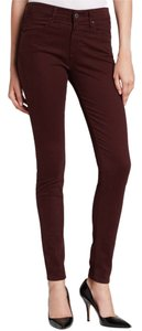 AG Adriano Goldschmied Oxblood Skinny Jeans-Medium Wash