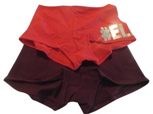 Victoria's Secret NEW 2 VICTORIA SECRET LOW RISE BOYSHORT SIZE M RED, BURGANDY