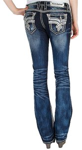 Rock Revival Kai Boot Cut Jeans-Medium Wash