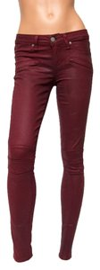 Paige Denim Low-rise Coated Shiraz Skinny Jeans-Coated