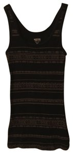 Mossimo Supply Co. Top Black with gold print design