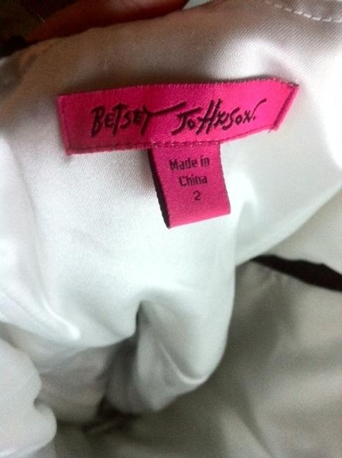 Betsey Johnson Vintage Classic Asymmetrical Tuxedo And Sequins Lace Floral Sweetheart Tulle Tutu Discontinued Rare Dress