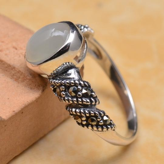 Moonstone 925 Sterling Silver Moonstone Ring Size 7