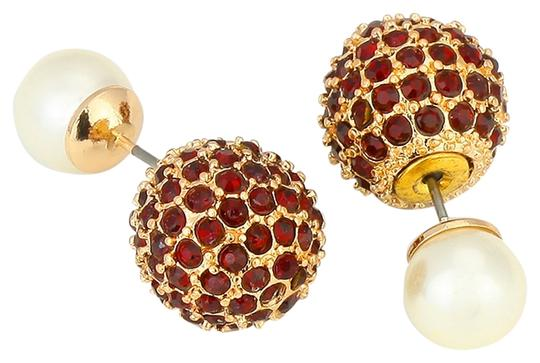 Preload https://img-static.tradesy.com/item/9804856/cream-red-siam-gold-double-sided-crystal-ball-pearl-stud-earrings-0-1-540-540.jpg