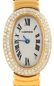 Cartier Cartier Baignoire 18K Yellow Gold Diamond Ladies Watch WB5094D8