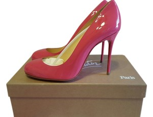 Christian Louboutin Patent Patent Leather Stiletto Pink Pumps