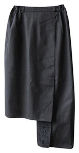 Embroidered Cotton Summer Skirt Black