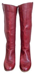 Wrangler Geniune Leather Vintage Limited Edition Red Boots