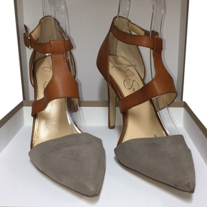 Jessica Simpson Grey and brown Pumps