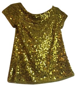 DKNY Fancy Sequin Yellow-gold Top YELLOW/GOLD