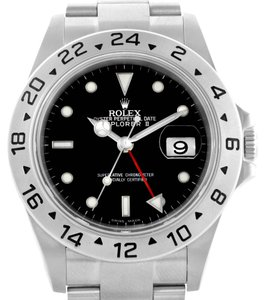 Rolex Rolex Explorer II Parachrom Hairspring Steel Black Dial Watch 16570