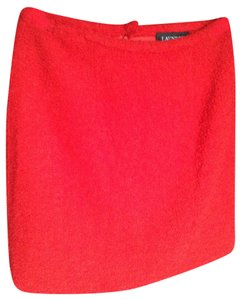 Laundry by Shelli Segal Boucle Skirt lipstick red