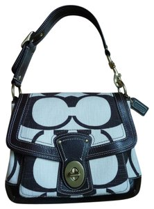 Coach Turnlock Canvas Shoulder Bag
